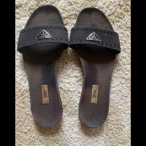 Slip on canvas sandals
